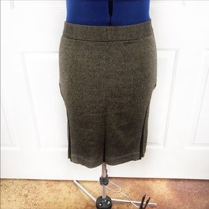 Club Monaco 12 retro tweed wool blend pencil skirt